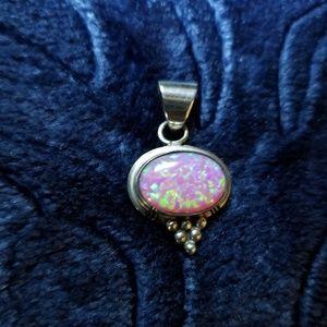 Pink opal pendant